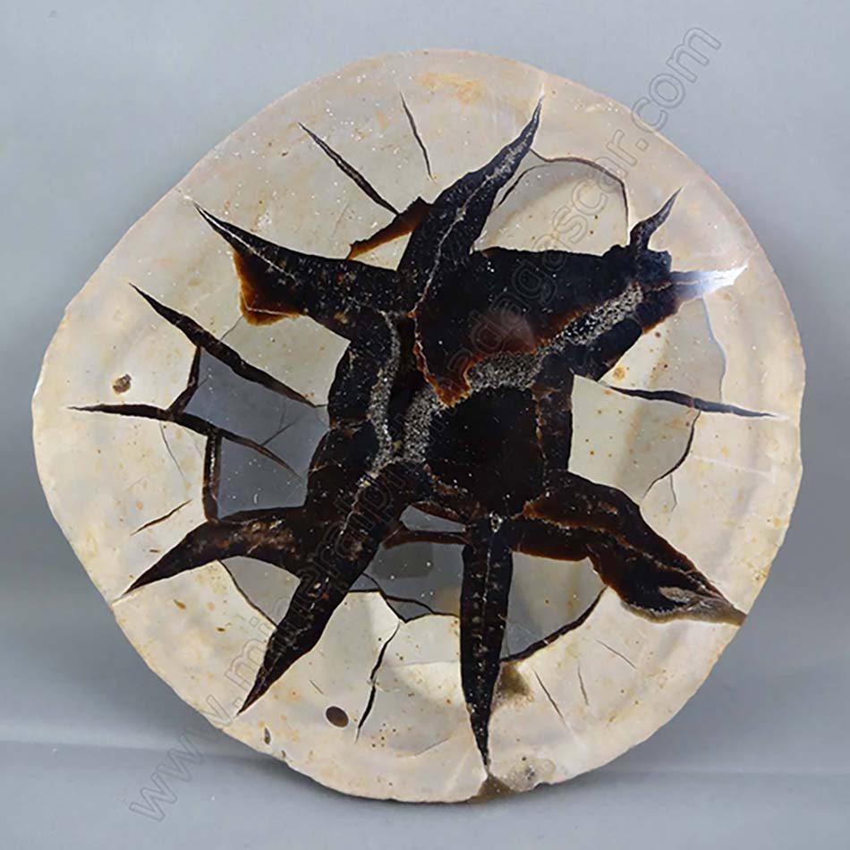 black septarian slab