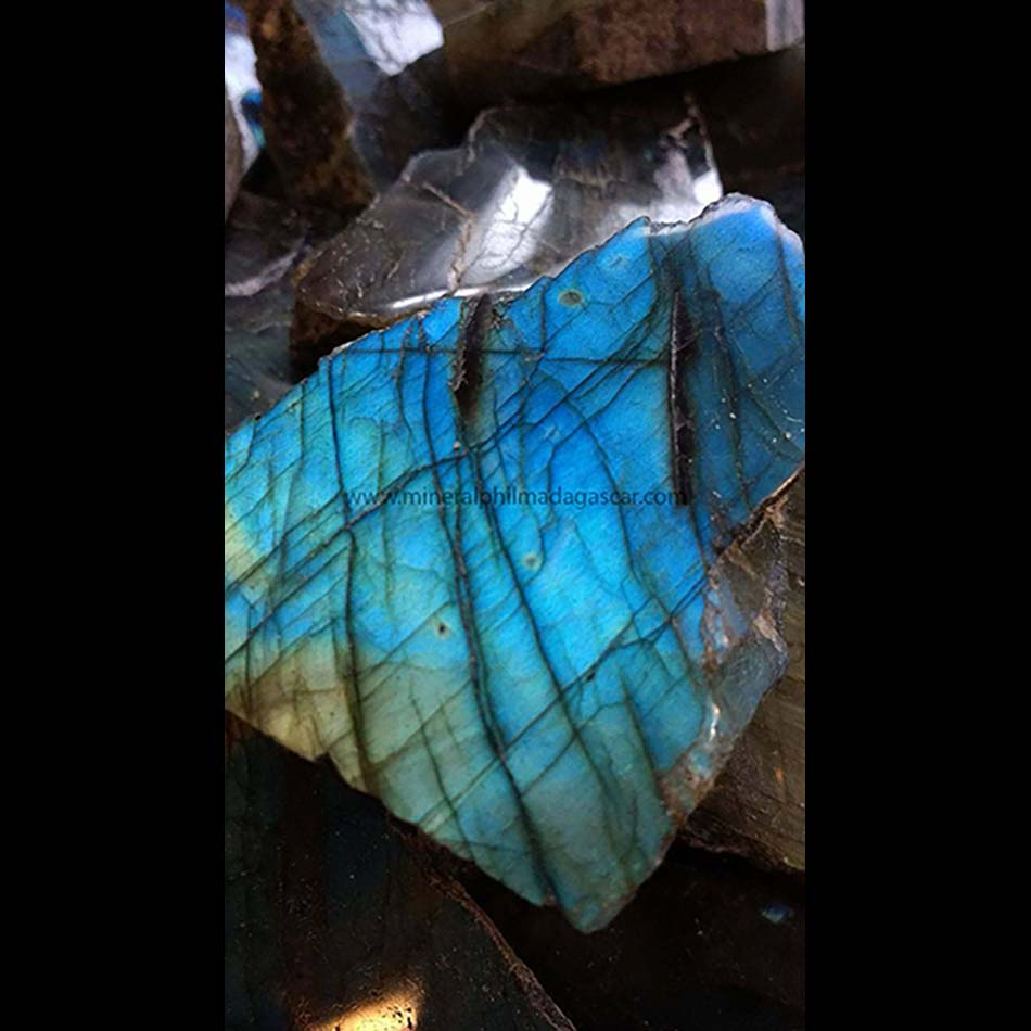 one face polished labradorite